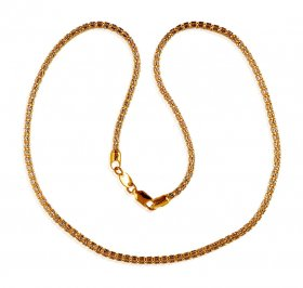 22K Gold 2 Tone Chain ( Plain Gold Chains )