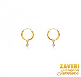 22K Gold Hoops Earing ( 22K Gold Hoops )