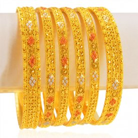 22karat Gold Bangles Set(set of 6) ( Gold Bangle Sets )
