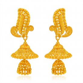 22kt Gold Fancy Chandelier Earrings