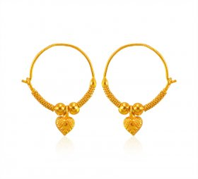 22K Gold Kids Hoops Earring ( 22K Gold Hoops )