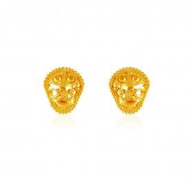 22kt Gold Kids Earrings ( 22K Gold Tops )