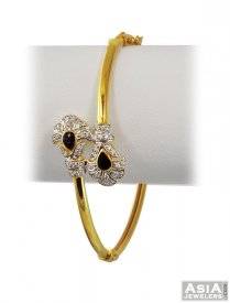 Cz studded Bangle (22 Karat Gold) ( Gold CZ Bangles )