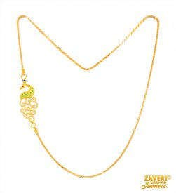 22 Kt Gold Two Tone Moggopu Chain ( Gold Fancy Chains )