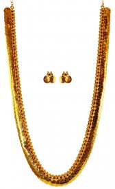 22 Karat Gold Ginni Mala Set ( 22K Necklace Sets (Long) )