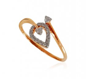 18K Rose Gold Diamond Ring ( Diamond Rings (Ladies) )
