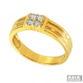 Mens Diamond Ring 18K