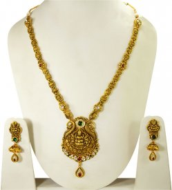 22 Kt Designer Temple Jewelry ( 22K Necklace Sets (Long) )