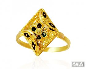 Fancy Gold Ladies Ring ( 22K Gold Rings )