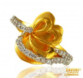 22 karat Gold Ring with CZ ( Stone Rings )