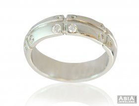 18k White Gold Fancy Band