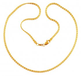 22K Gold Fancy Chain 16Inches