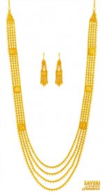 22K Gold Chandra Haar  ( 22K Necklace Sets (Long) )