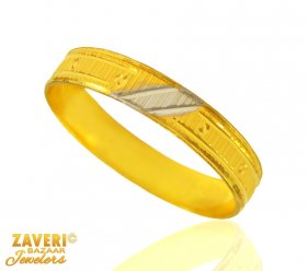 22 Kt Gold Two Tone Ring (Band)