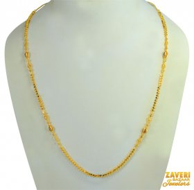 22 kt Designer Meenakari Gold Chain ( Long Chains (Ladies) )