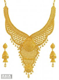 22k Yellow Gold Bridal Necklace Set
