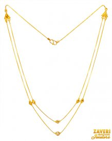 22K Two Tone Gold Balls Chain ( Gold Fancy Chains )