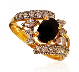 22Kt Gold Sapphire Stone Ring