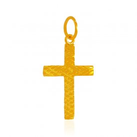 22K Gold Cross Pendant