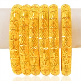 22KT Gold Bangles Set (6 PCs) ( Gold Bangle Sets )