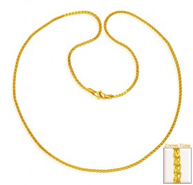 22 Karat Gold Chain (18 In) ( Plain Gold Chains )