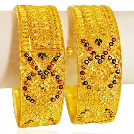22kt Gold Filigree Kadas(set of 2)