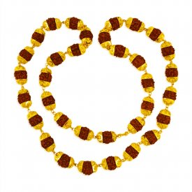 22 kt Gold Rudraksh Mala  ( Mens Gold Chain )