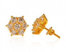 22 Kt Gold CZ Tops ( 22K Gold Tops )