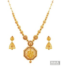 Precious Stones 22K Necklace Set