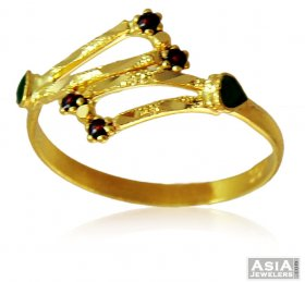 22k Gold Fancy Gold Ring ( 22K Gold Rings )