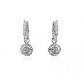 18kt White Gold Diamond clipons ( Diamond Earrings )