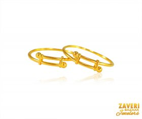 22 kt Gold Kids Bangles (2PC) ( Baby Bangles )