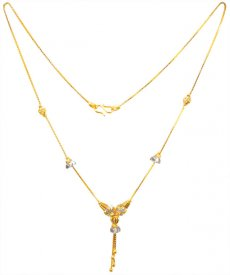 22K Gold Two Tone Dokia Chain ( Gold Fancy Chains )