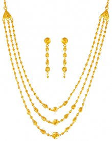 22K Gold Layered Necklace Set