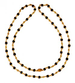 22K Gold Brown Tulsi Mala ( Long Chains (Ladies) )