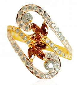 22k Gold Colored Stone Ring