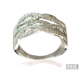 Fancy Ladies Diamond Ring 18K ( Diamond Rings (Ladies) )
