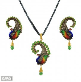 Peacock Pendant Set (Nizam Collection)