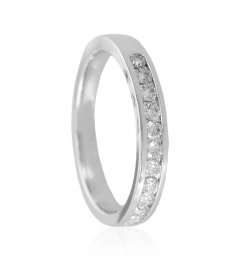 18k White Gold Diamond Band ( Diamond Rings (Ladies) )
