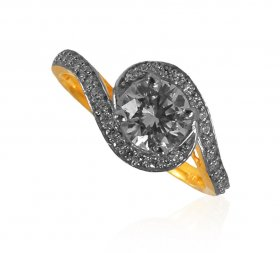 22 Kt Gold CZ Ladies Ring ( Stone Rings )
