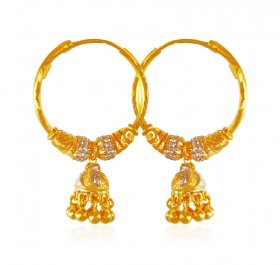 22KARAT Gold Bali (Earrings) ( 22K Gold Hoops )