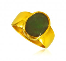 22 kt Gold Emerald Ring  ( Gemstone Rings )
