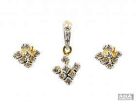 Small Diamond Pendant Set ( Diamond Pendant Sets )