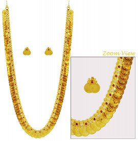 Traditional Gold Kasulaperu Set ( 22K Gold Necklace Sets )