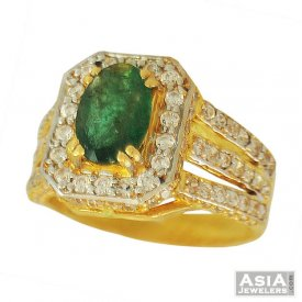 Designer Emerald Ring (22K)