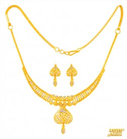 Fancy Necklace Set (22 Karat) ( 22K Light Necklace Sets )