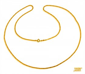Box Chain 22 Kt Gold (22 In) ( Plain Gold Chains )