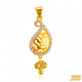 22K CZ Pendant ( Gold Fancy Pendants )