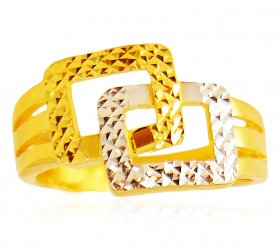 Gold Two Tone Ring