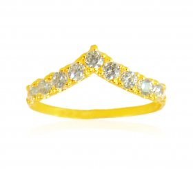 22Kt Gold Cubic Zircon Ring